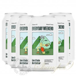 6 cans of Everyday Weekend Lime & Soda Hard Seltzer