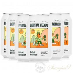 6 cans of Everyday Weekend Kiwifruit Hard Seltzer