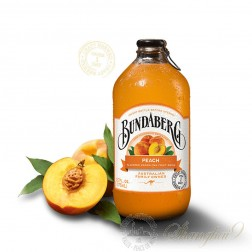 One case of Bundaberg Peach Sparkling Drink
