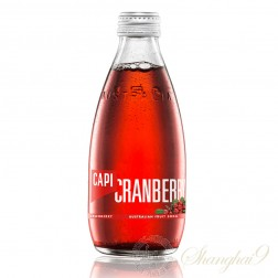 One case of CAPI Cranberry Australian Fruit Soda