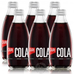 6 bottles of CAPI Cola Premium Craft Soda