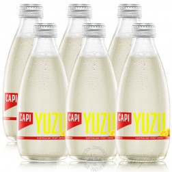 6 bottles of CAPI Yuzu Australian Fruit Soda