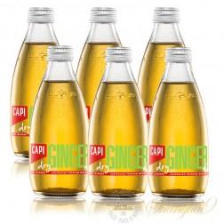 6 bottles of CAPI Dry Ginger Ale Australian Premium Mixer