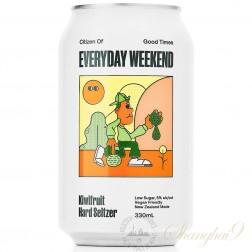 One case of Everyday Weekend Kiwifruit Hard Seltzer
