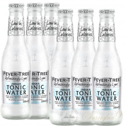 6 bottles of Fever Tree Refreshingly Light Indian Tonic Water