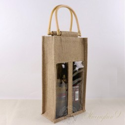 Hemp Gift Bag - Two Bottles