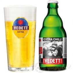 One case of Vedett Blond + One Vedett Glass