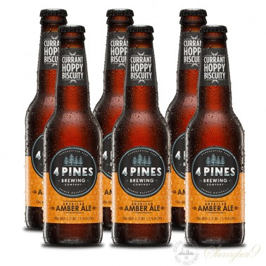 6 bottles of 4 Pines American Amber Ale