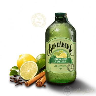 6 bottles of Bundaberg Lemon Lime & Bitters Sparkling Drink