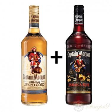 Captain Morgan Original Spiced Rum + Dark Jamaican Rum Combo