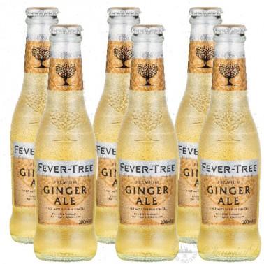 6 bottles of Fever Tree Ginger Ale