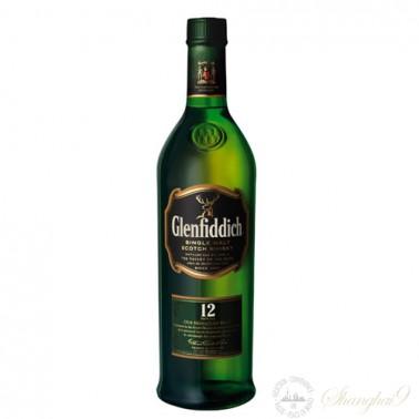 Glenfiddich 12 Year Old Single Speyside Malt Scotch Whisky