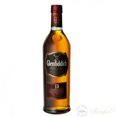 Glenfiddich 15 Year Old Single Speyside Malt Scotch Whisky