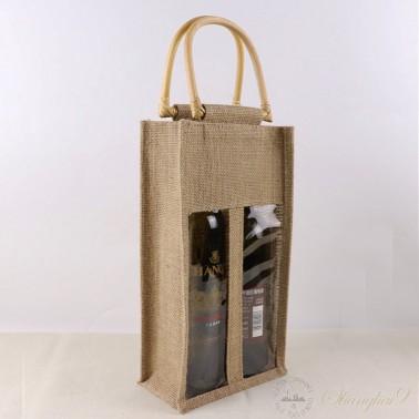 Hemp Gift Bag - Two Bottles