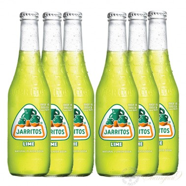 6 bottles of Jarritos Lime Soda