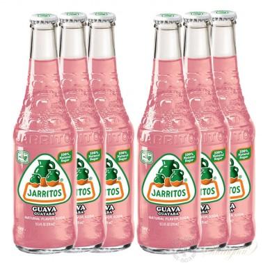 6 bottles of Jarritos Guava Soda
