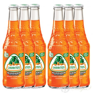 6 bottles of Jarritos Mandarin Soda