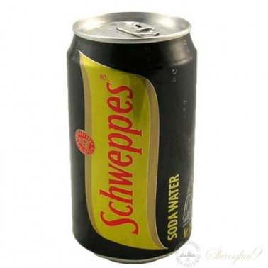 Schweppes Soda Water (330ml x 24 Cans)
