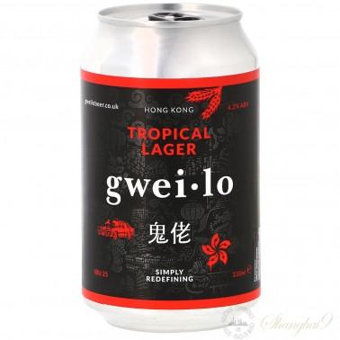 鬼佬热带酒花拉格啤酒(12听)